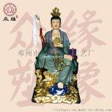 地姥娘娘神像 树脂玻璃钢雕塑 极彩贴金地母娘娘佛像