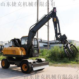 抓棉花农用轮胎式挖机 新疆策勒县小型轮式挖掘机