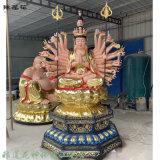 素金準提佛母 準提觀音佛像雕塑 千手觀音佛像