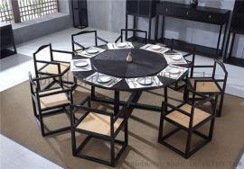 杭州餐厅家具|实木桌椅|卡座软包沙发定制