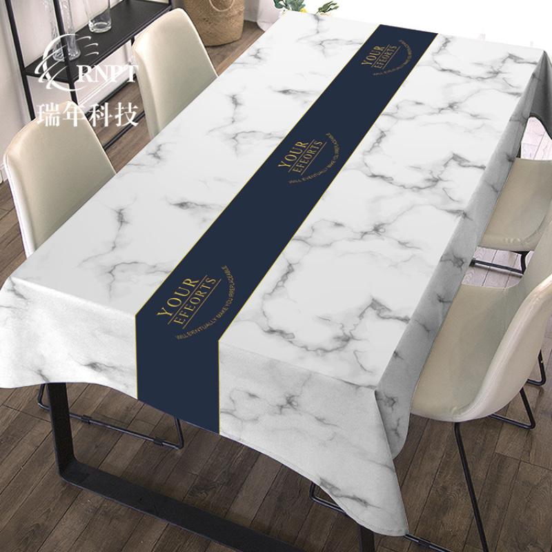RNHS瑞年 仿大理石印花台布 防水防油PVC桌布