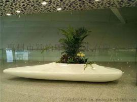 玻璃钢大堂花器雕塑,厂家定制