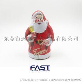 圣诞老人铁罐,卡通糖果罐