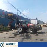 新款拖拉機吊鑽一體機 8噸吊拖拉機打樁機