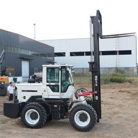 水泥砖抱夹越野叉车 动力强劲3吨越野叉车