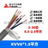 kvv铜线控制电缆 深圳kvv6x1.5控制电缆