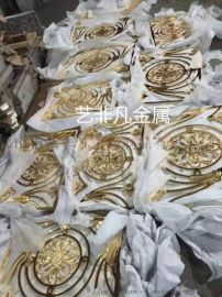 广州纯铜雕刻护栏****旋转楼梯铜板雕刻K金护栏