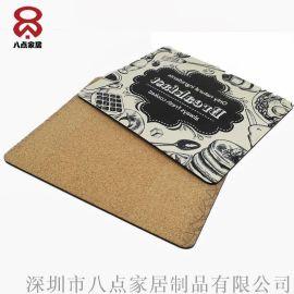 热转印餐垫厂家直销 木质欧式餐垫 木版画餐垫