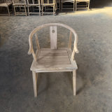 北方榆木乞丐椅休闲茶道茶艺新中式实木圈椅
