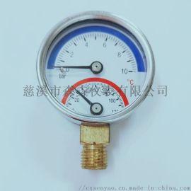 50MM压力温度表,径向压力温度表,轴向压力温度表
