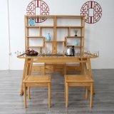 美硕新中式创意实木茶桌,禅意轻奢风书房系列组合