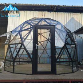 旅行水晶房防水黑色玻璃屋新款浪漫泡泡屋
