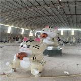 佛山玻璃鋼卡通招財貓雕塑 商業廣場吉祥物雕塑擺件