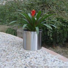 户外大型装饰不锈钢花钵花盆,园林花盆