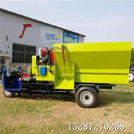 双轴拌料机 TMR搅拌机可牵引撒料车