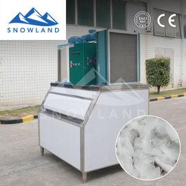雪源制冰日产300kg超市片冰机制冰设备