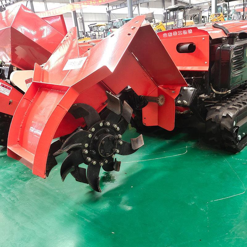 履带式田园管理机 供应多功能 果园遥控式开沟施肥机