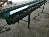 工地水泥上樓輸送機 高低可調方管爬坡皮帶機Lj8