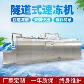 什锦菜隧道速冻机 出口蔬菜速冻流水线设备