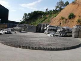 大直徑DN10500不鏽鋼孔板波紋填料驗貨現場