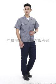 广州番禺区定做音响工厂服套装,短袖套装工厂定做价格