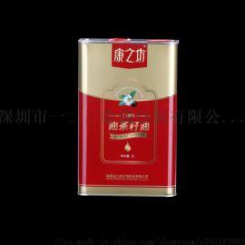 2L马口铁油罐生产食用油金属包装罐