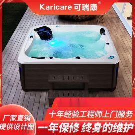 别墅户外冲浪SPA按摩浴缸泡池多功能亚克力恒温加热