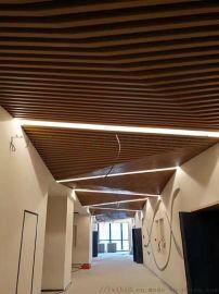 博物馆金属防火装饰铝方通U型铝格栅吊顶天花