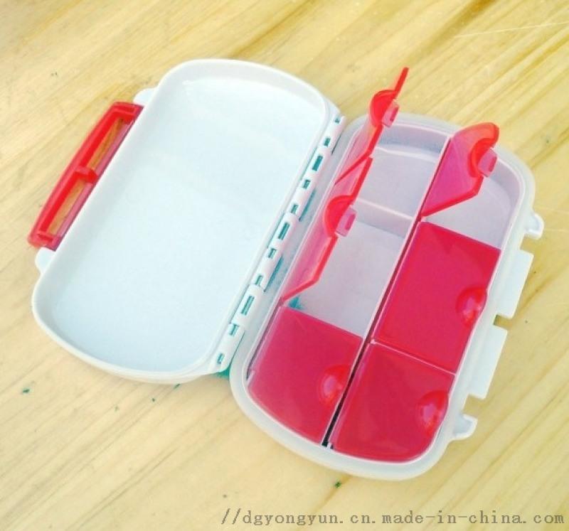 6格密封圈防水药盒