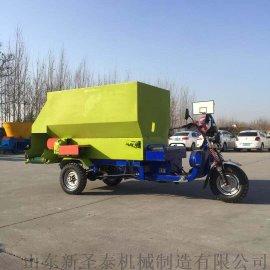 新款电动车撒料车 牛羊养殖自走式双侧撒料车