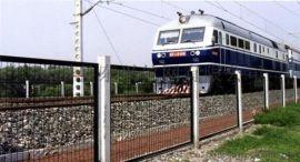 铁路护栏网/浸塑高铁隔离栅/框架铁路护栏网