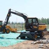 捷克轮式挖掘机 精品轮式挖机 多功能抓木机售价