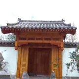 中式装修实木仿古门头屋檐古建门窗翘角横檐斗拱牌匾