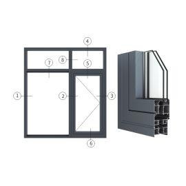 广东兴发铝材创高AL6524A|B系列外平开窗