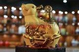 三斤5斤吉祥袋鼠禮品酒瓶 磨砂金陶瓷酒瓶廠家
