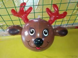 pvc充气球 动物球 鹿头球