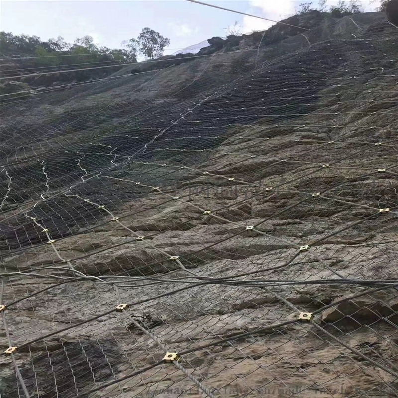 山体边坡防护网厂家.边坡主动防护网.主动山体防护网