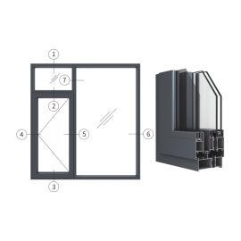 创高GL95W14A|B系列窗纱一体隔热外平开窗
