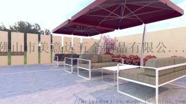 户外防水布艺不锈钢沙发组合 佛山户外家具厂定做