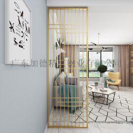 上海酒店装饰欧式不锈钢黄钛金屏风隔断