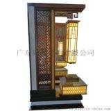 中式小區觀景燈不鏽鋼拉絲庭院燈七字形公園景觀燈定製