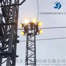 生产安装钢结构铁塔 升降式21米热镀锌照明灯塔