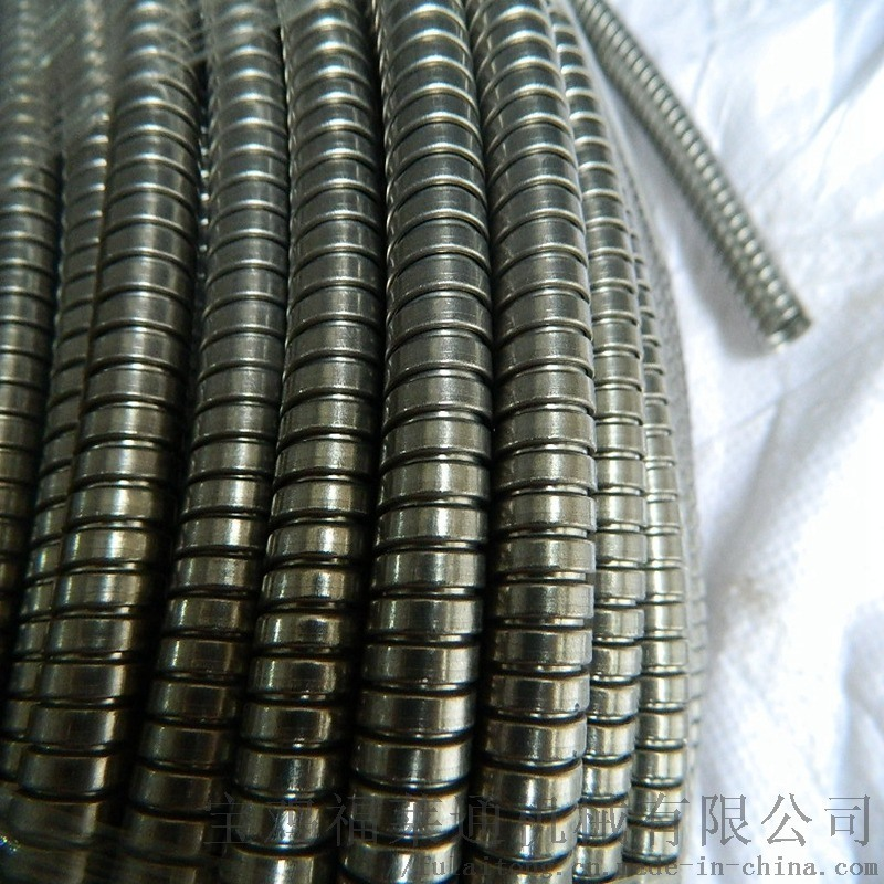淄博銷售福萊通品牌穿線雙扣金屬軟管  DN25規格