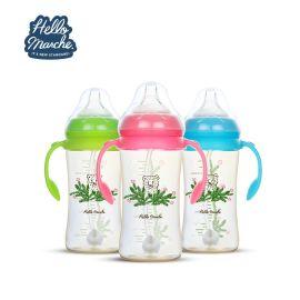 宽口PPSU奶瓶 婴幼儿带手柄管款式 母婴