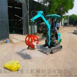 国产小挖机 带爬梯斗提机 六九重工 市政工程 园林