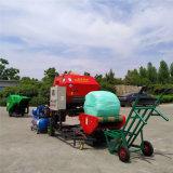 青貯玉米秸杆打捆機多少錢 牧草圓捆打捆包膜一體機