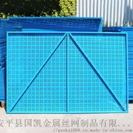 襄阳镀锌板冲孔网 提升脚手架爬架网
