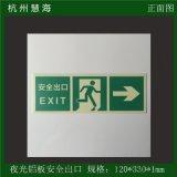 有檢測報告的消防應急逃生鋁板安全出口夜光指示牌