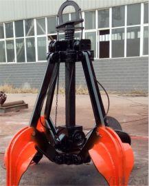 钢厂高温废钢电动液压抓斗 抓取1立方生铁矿石抓具