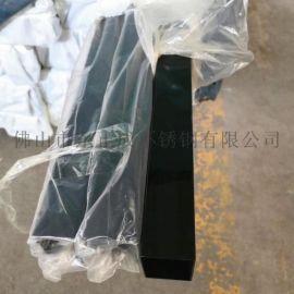 佛山黑钛金不锈钢矩形管,304不锈钢黑钛金矩形管